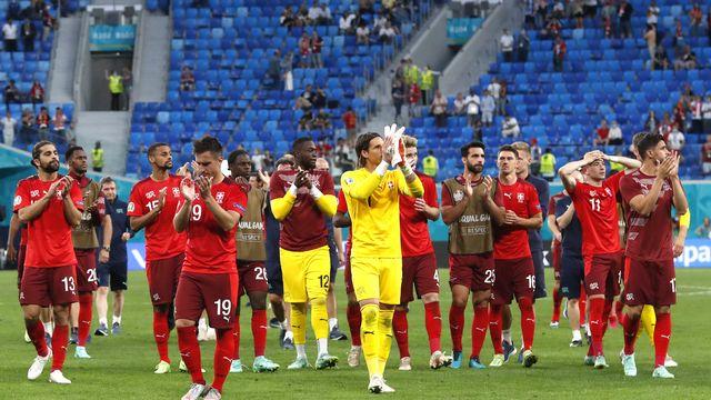 L'équipe de Suisse a été éliminée par l'Espagne. [Maxim Shemetov - Pool Photo via AP/Keystone]