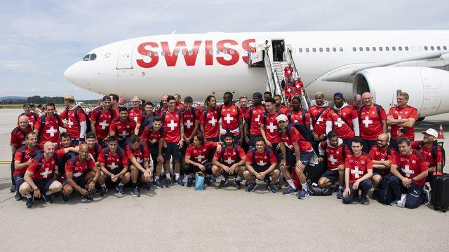 Un jour après son élimination contre l'Espagne, l'équipe de Suisse est de retour au pays. [Ennio Leanza - Keystone]