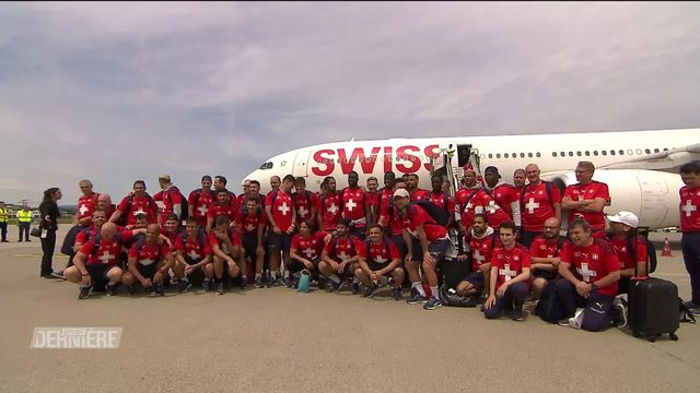 Football, Euro 2020: L'équipe de Suisse est de retour à Zurich [RTS]