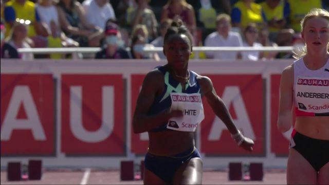 Stockholm (SUE), 100m dames: Salomé Kora (SUI) monte sur la 2e marche du podium [RTS]