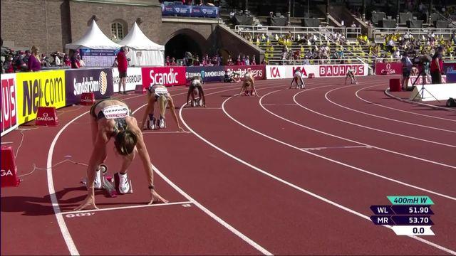 Stockholm (SUE), 400m haies dames: Léa Sprunger (SUI) se classe 8e et dernière de la course [RTS]