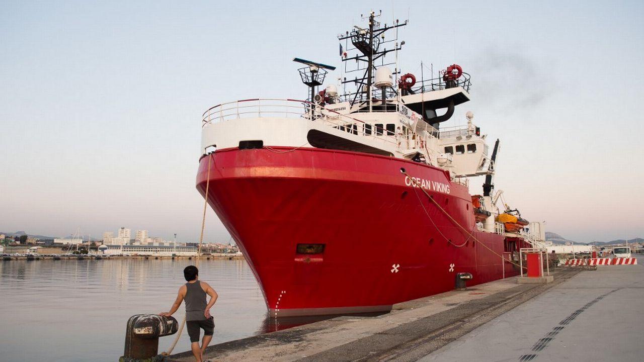 L'Ocean Viking a déjà secouru près de 30'000 personnes en Méditerranée depuis 2016. [Clément Mahoudeau - AFP]