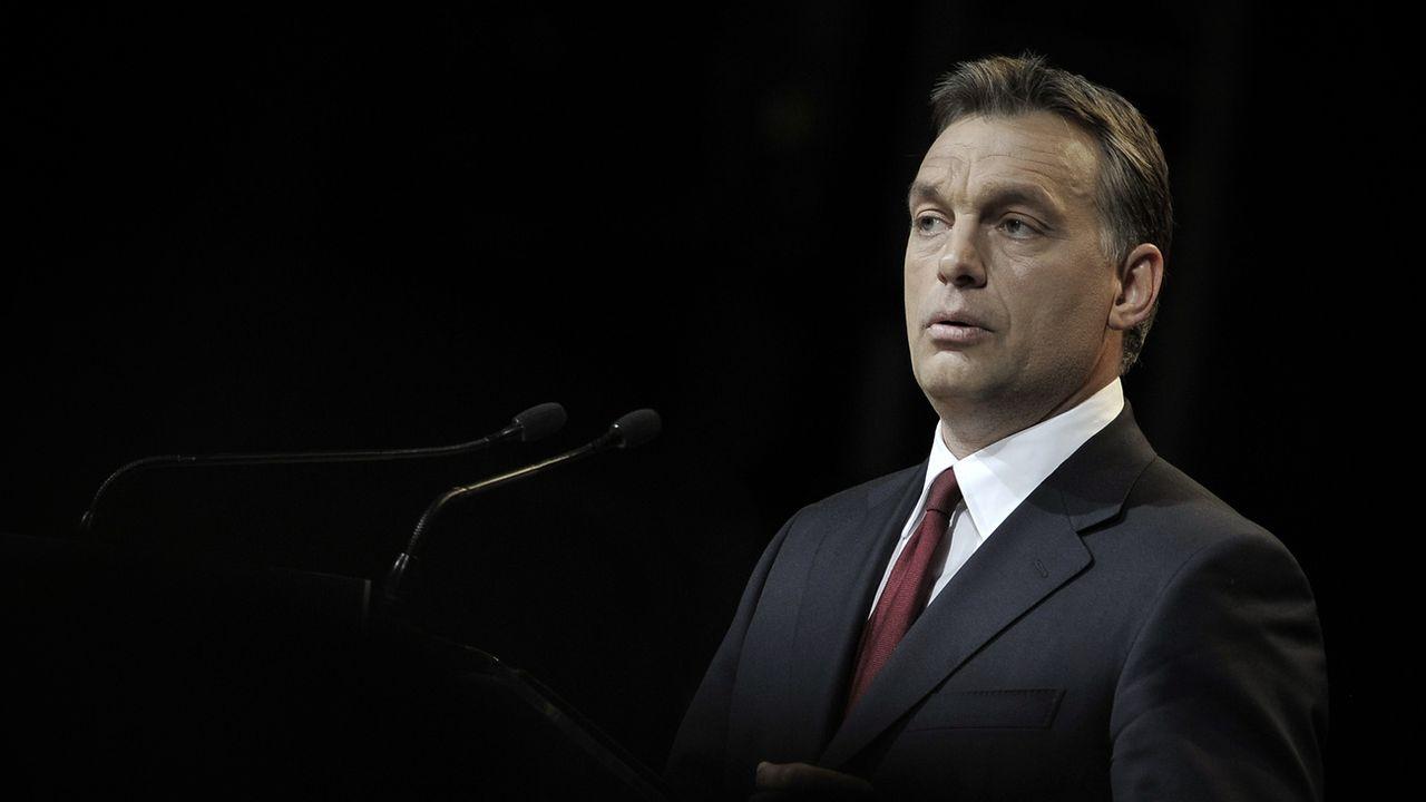 Pour la première fois, l'ONG Reporters sans frontières y désigne un dirigeant d'un pays de l'UE, le Premier ministre hongrois Viktor Orban, parmi 37 chefs d'Etat. [Bela Szandelszky - Keystone]