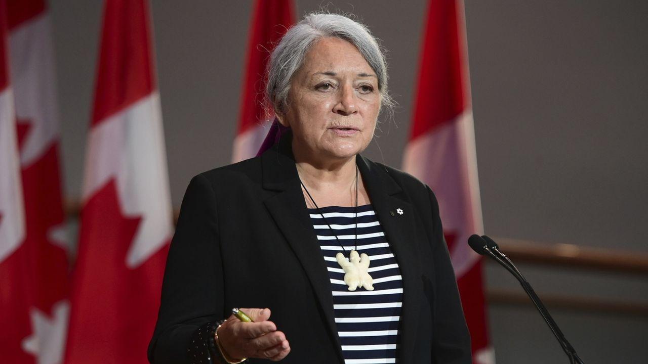 Mary Simon après sa nomination au poste de gouverneure générale du Canada.  [Sean Kilpatrick - keystone]