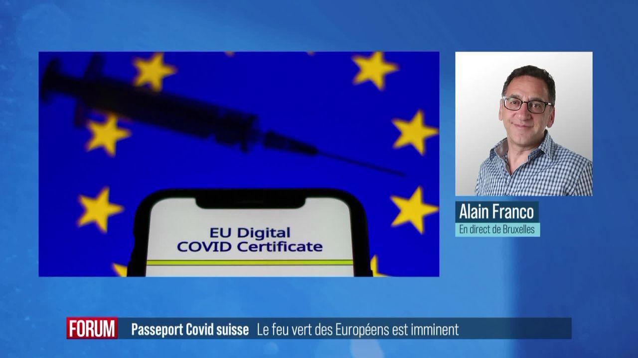 La reconnaissance du passeport Covid suisse par les Européens est imminente [RTS]