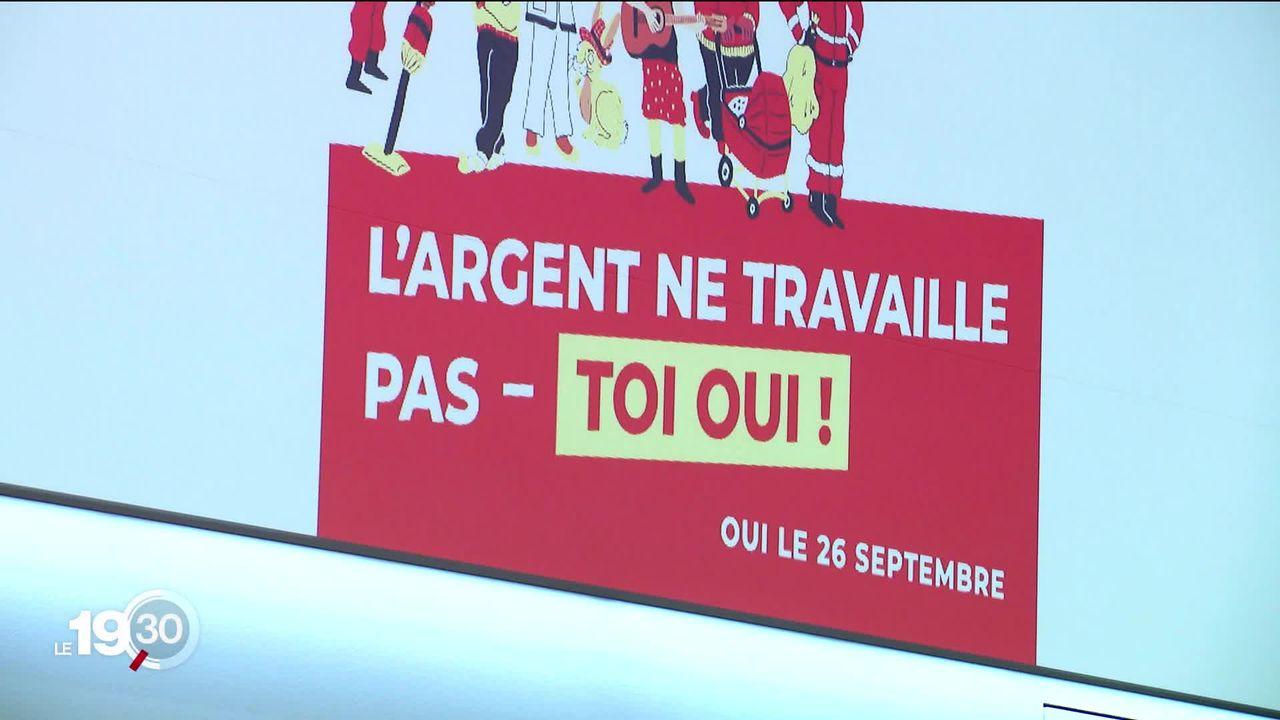 La Jeunesse socialiste suisse lance la campagne sur l'initiative dite des 99% [RTS]