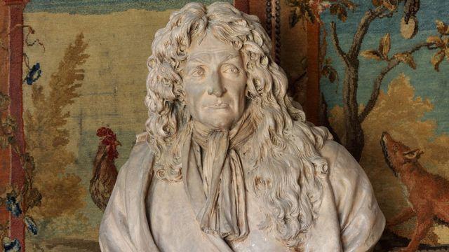 Un buste Jean de La Fontaine par Jean-Antoine Houdon. [Manuel Cohen - AFP]