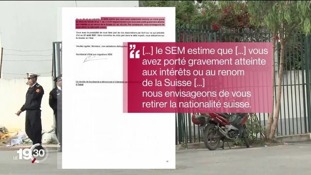 L'un des djihadistes suisses incarcérés au Maroc risque la déchéance de nationalité. [RTS]