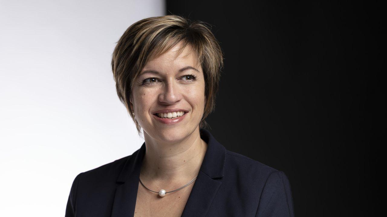 La socialiste Valérie Piller Carrard est candidate au Conseil d'Etat fribourgeois. [Gaetan Bally - Keystone]