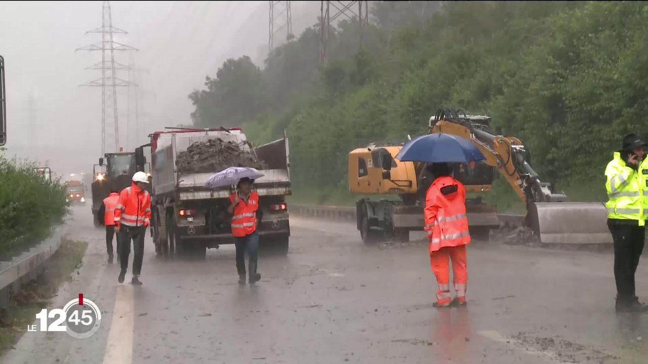 Des intempéries ont provoqué hier soir d'importants dégâts au Tessin mais aussi dans le Haut-Valais [RTS]