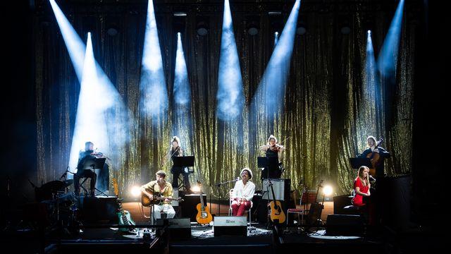 Le trio Brandão, Faber et Hunger sur la Scène du lac au Montreux Jazz Festival, le 9 juillet 2021. [Lionel Flusin - FFJM 2021]