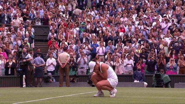 Finale, A. Barty (AUS) - Ka.Pliskova (CZE) (6-3, 6-7, 6-3): Première victoire à Wimbledon pour Barty ! [RTS]