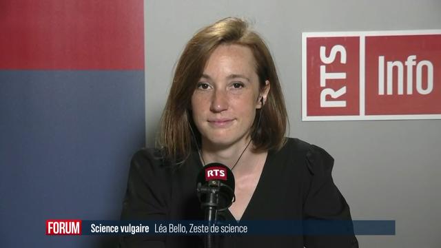 Léa Bello, vidéaste, journaliste et vulgarisatrice française. [RTS - RTS]