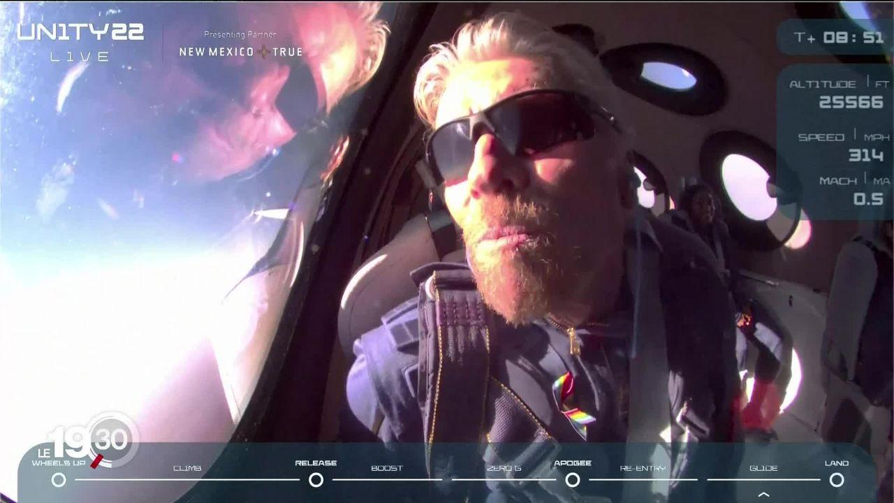Le milliardaire Richard Branson à la conquête de l'espace [RTS]