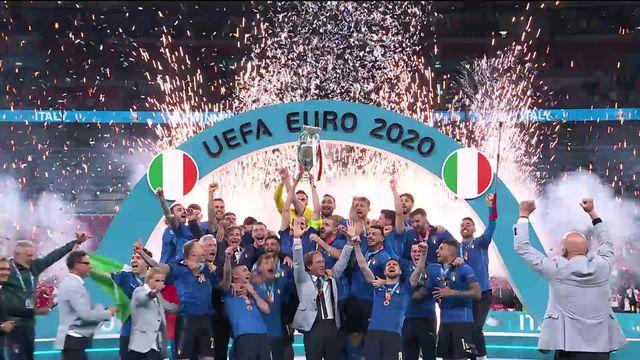 Finale, Italie - Angleterre (1-1, 3-2 tab): la remise du trophée ! [RTS]