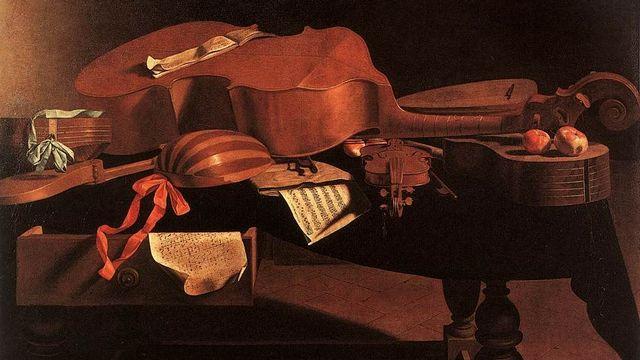 Instruments de musique baroque (image prétexte). [Evaristo Baschenis - Domaine public]