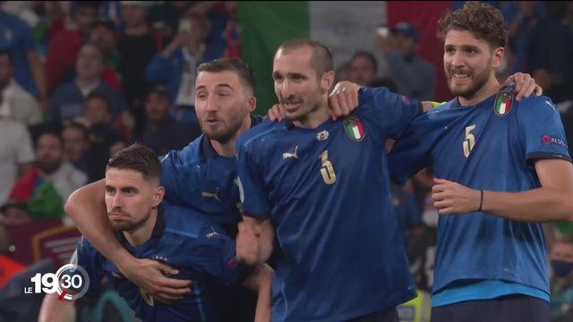 Malgré un but dès le début du match, l'Angleterre s'est inclinée aux tirs au but lors de la finale face à l'Italie [RTS]