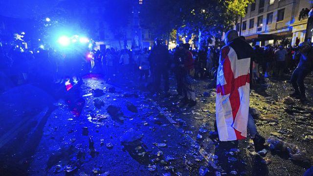 Triste spectacle lors de la finale de l'Euro dimanche. [Victoria Jones/PA Via AP - Keystone]