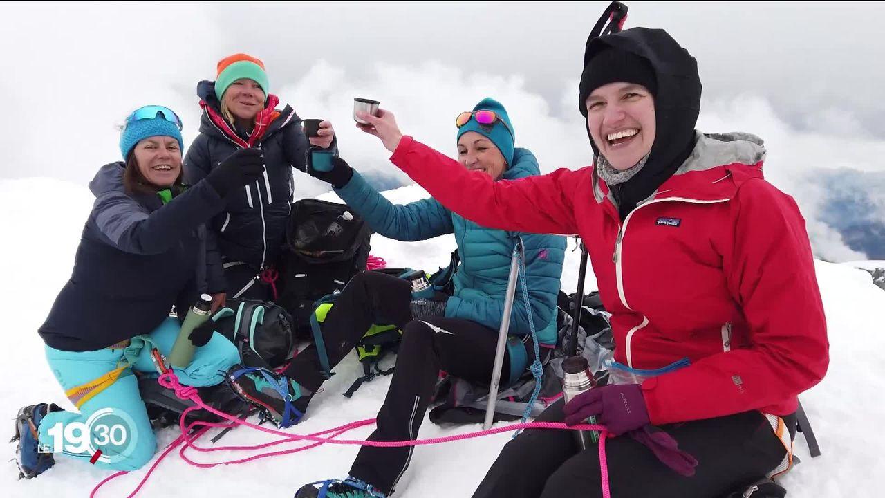 A l'assaut des sommets : une initiative de Suisse Tourisme pour encourager les femmes à pratiquer l'alpinisme. [RTS]