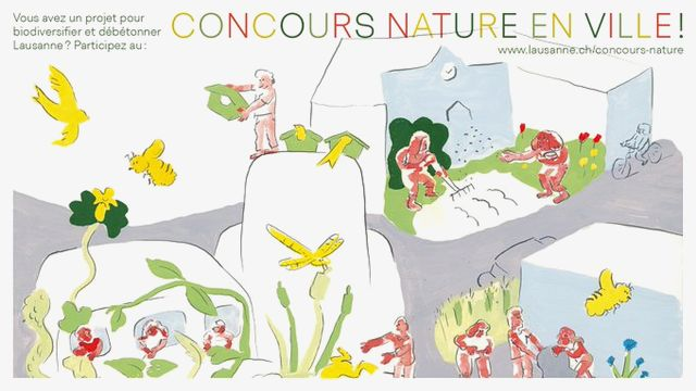 """Le premier prix de l'édition 2021 a été attribué au projet """"Plus de biodiversité dans les jardins de Beaulieu-Bergières"""". [Ville de Lausanne/Twitter]"""