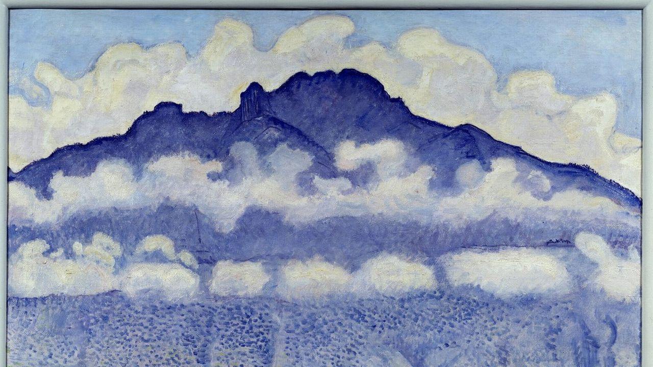 """""""Schynige platte"""", peinture de Ferdinand Hodler, 1909. [Photo Josse / Leemage - AFP]"""