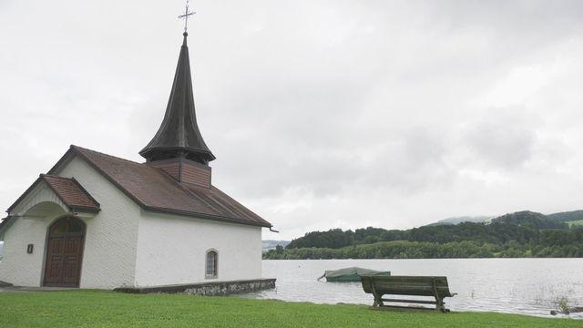 Le lac de la Gruyère déborde aussi par endroits [RTS]