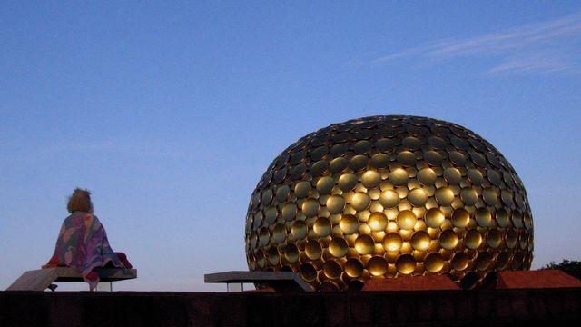 Bhaga, ici près du Matrimandir, Auroville Inde. [M. Girardin - DR]
