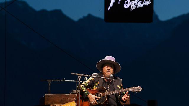 Le chanteur italien Zucchero s'est produit à cinq reprises cette année au Montreux Jazz Festival, dont le 11 juillet 2021. [Jean-Christophe Bott - Keystone]