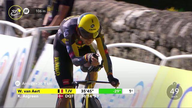 Etape 20, Libourne - Saint-Emilion: Wout van Aert (BEL) remporte le contre-la-montre [RTS]
