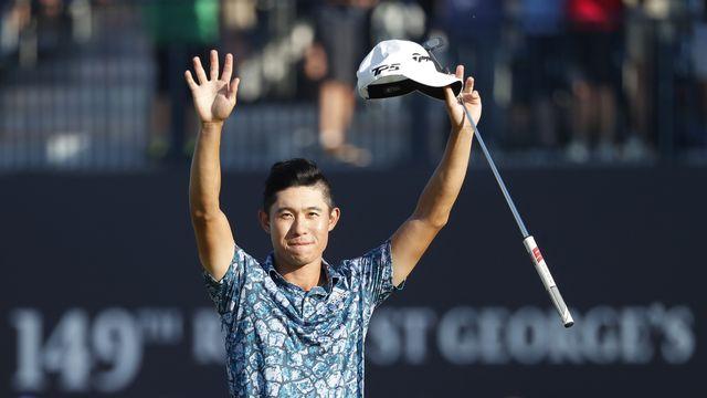 Morikawa a fait forte impression en remportant le British Open pour sa première participation. [Peter Morrison - Keystone]