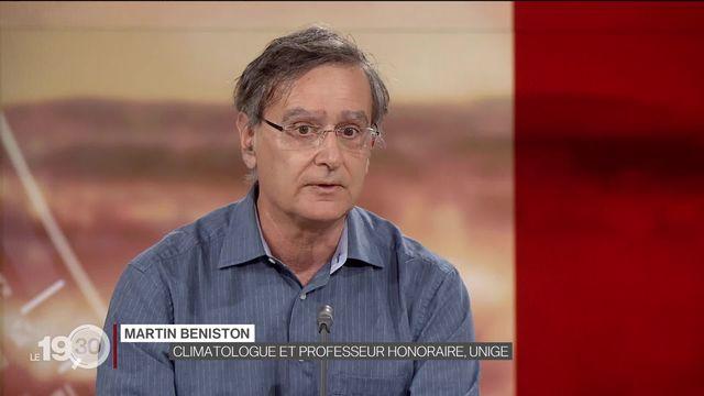 """Martin Beniston: """"Avec son plan climatique, l'Union européenne donne un signal politique fort"""". [RTS]"""