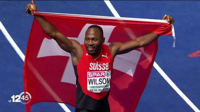 Le sprinter bâlois Alex Wilson signe un chrono époustouflant aux Etats-Unis et bat le record européen du 100 mètres. [RTS]