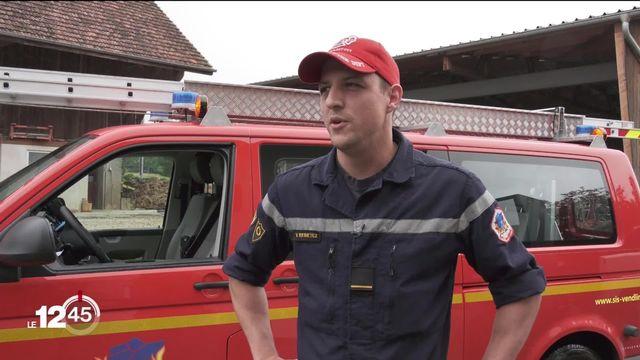 Portrait d'un pompier volontaire en Ajoie, engagé sur le front des intempéries et des inondations [RTS]