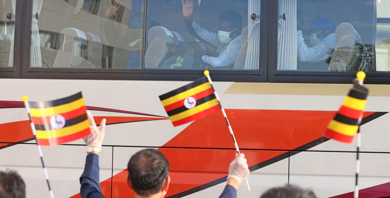 Julius Ssekitoleko faisait partie du premier groupe de 9 sportifs, entraîneurs et cadres ougandais arrivés au Japon mi-juin, dont 2 membres non sportifs avaient été testés positifs au coronavirus peu après. [Makoto Kondo - AFP]