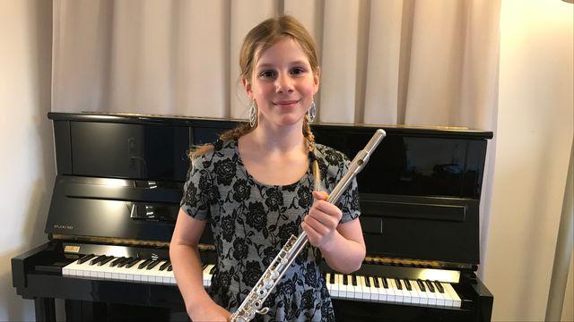 Concours pour Jeunes solistes du Festival du Jura : Chiara Barone, flûtiste. [Alain Arnaud - RTS]