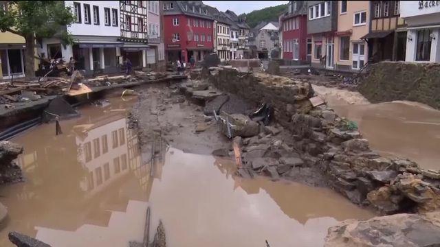 Les inondations en Allemagne ont causé la mort de plus de 160 personnes. [RTS]