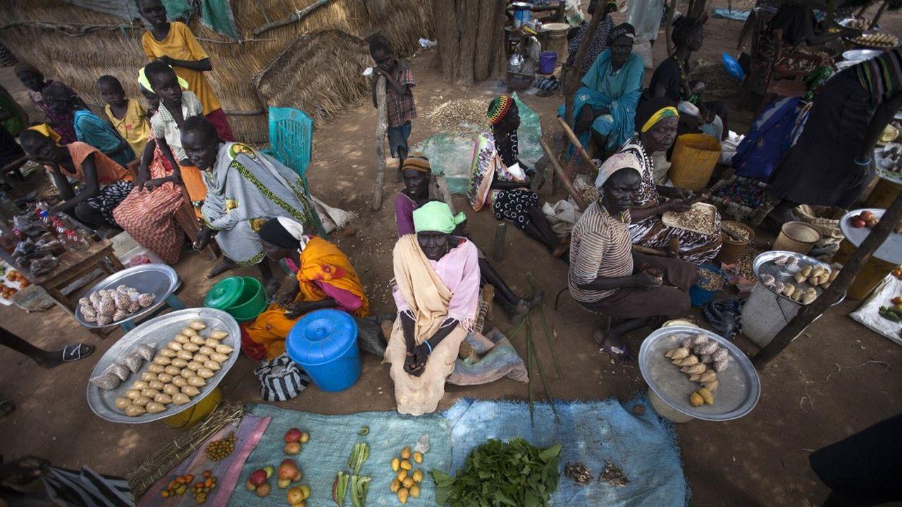 Un marché à Akuem, en-dehors d'Aweil. Soudan, octobre 2016 (image d'illustration). [Albert Gonzalez Farran - AFP]