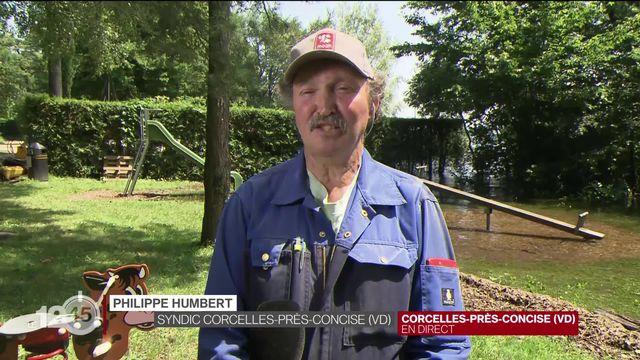 """Philippe Humbert, syndic de Corcelles-près-Concise : """"Piquer une tête dans le lac est tout sauf une bonne idée """" [RTS]"""
