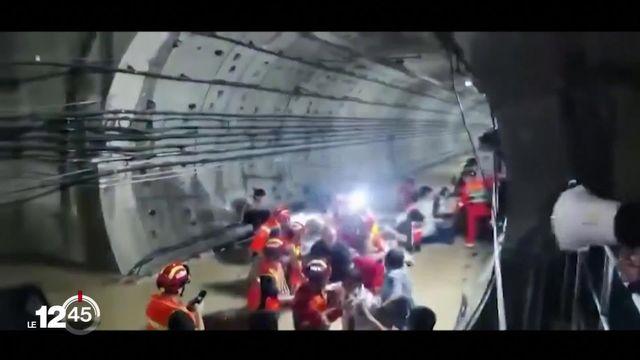Des pluies torrentielles se sont abattues dans le nord-ouest de la Chine. 200 000 personnes ont été évacuées. [RTS]
