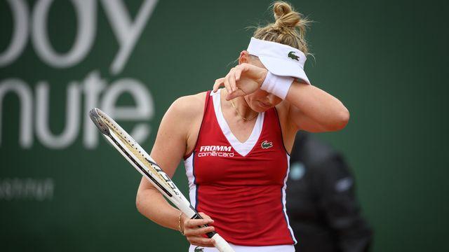 Jil Teichmann a déclaré forfait au deuxième tour du tournoi WTA de Palerme. [Laurent Gillieron - Keystone]
