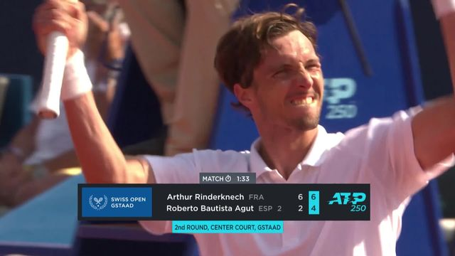 1-8 de finale: A. Rinderknech (FRA) - R. Bautista (ESP): Arthur Rinderknech crée la surprise en battant l'Espagnol Bautista Agut [RTS]