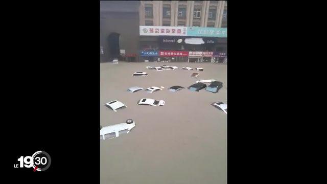 Intempéries meurtrières dans la ville de Zhengzhou, dans le centre de la Chine. [RTS]