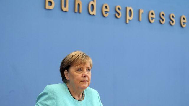 La chancelière allemande Angela Merkel a donné sa dernière conférence de presse estivale. [AP/Wolfgang Kumm - Keystone]