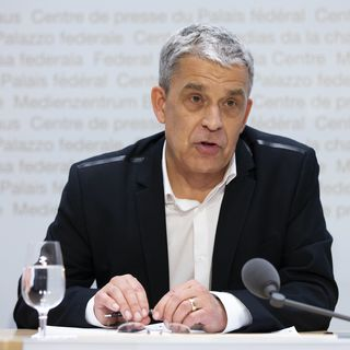 Christoph Berger, président de la Commission fédérale pour les vaccinations. [PETER KLAUNZER - KEYSTONE]