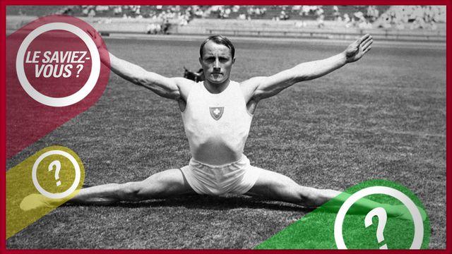 Georges Miez, ici aux JO 1932, aura marqué l'histoire de la gymnastique et du sport helvétiques. [Str - Keystone]