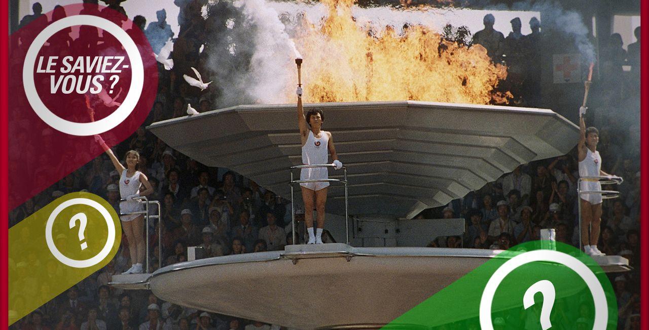 Certaines colombes ont été brûlées lors de la cérémonie d'ouverture des Jeux de Séoul en 1988. [Michel Lipchitz - Keystone]