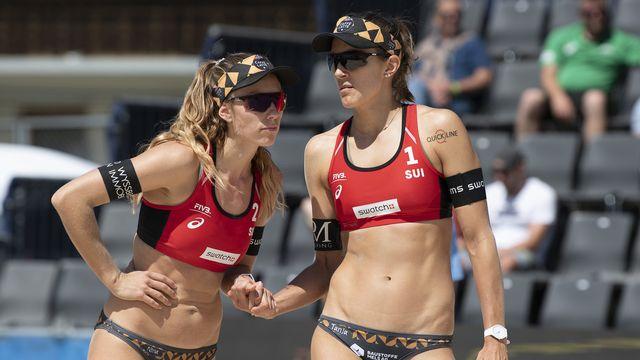 Nina Betschart et Tanja Hüberli commenceront leur tournoi samedi. [Peter Schneider - Keystone]