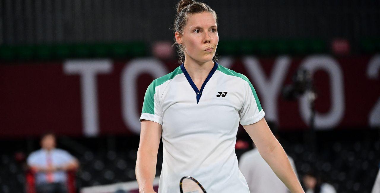 Sabrina Jaquet s'est inclinée lourdement face à la meilleure joueuse du monde. [Pedro Pardo - AFP]