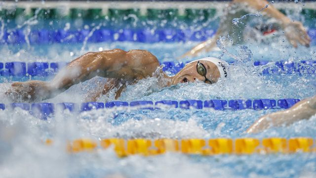 Antonio Djakovic a manqué de peu la qualification pour la finale du 400 m libre. [Patrick B. Kraemer - Keystone]