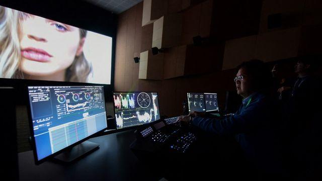 La post-production au cinéma. [Wang Zhao - AFP]